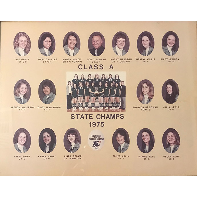 1975 Girls Basketball Team